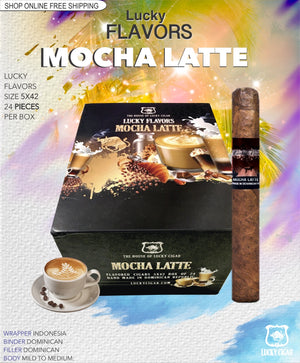 Flavored Cigars: Lucky Flavors Mocha Latte 5x42 Box of 24