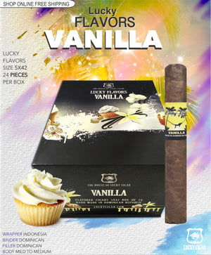 Flavored Cigars: Lucky Flavors Vanilla 5x42 Box of 24