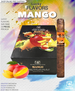 Flavored Cigars: Lucky Flavors Mango 5x42 Box of 24