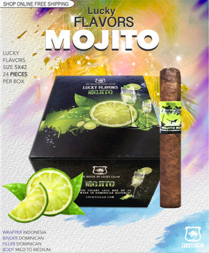Flavored Cigars: Lucky Flavors Mojito Rum 5x42 Box of 24