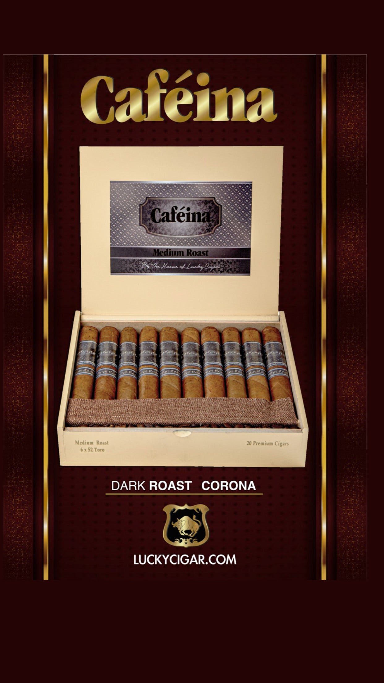 Cafeina medium roast corona  box of 20