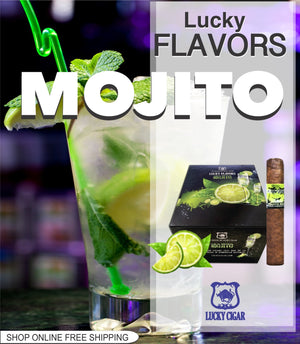 Flavored Cigars: Lucky Flavors Mojito Rum 5x42 Single Cigar