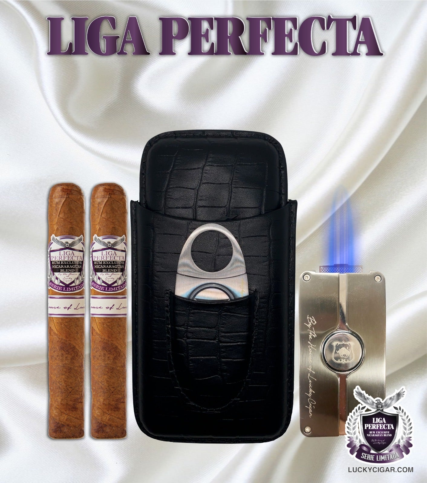 Leather set liga perfecta set includes:
