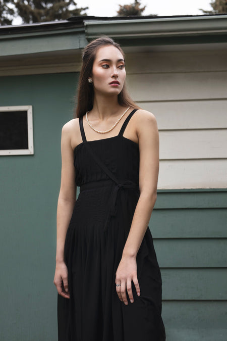 Ella Dress - Black Botanicals