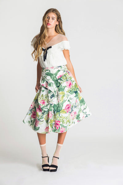 Fae Skirt - Lush Florals - Fireflies for Lanterns