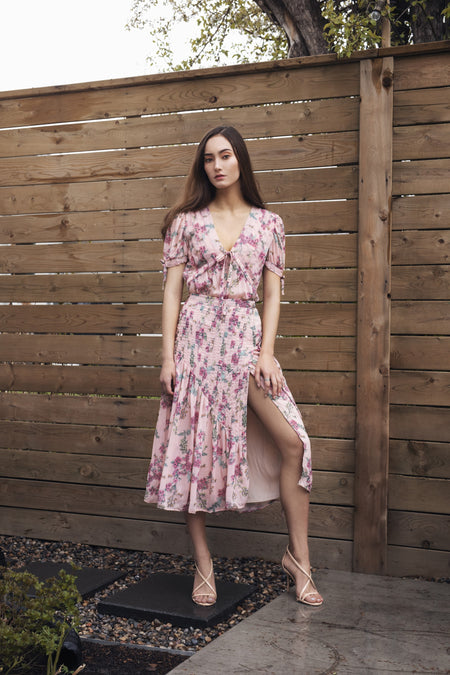 Suki Dress - Pink Blossoms