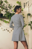 Ellie Dress - Navy Florals on Ivory - Fireflies for Lanterns