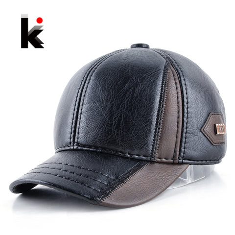 Winter Leather Patchwork Cap - Pirate Of Swag
