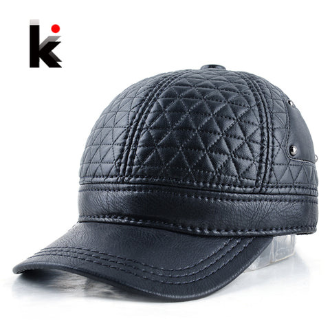 Adjustable Winter Leather Cap - Pirate Of Swag