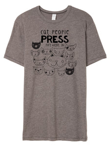 Grey Tshirt Cat People Press
