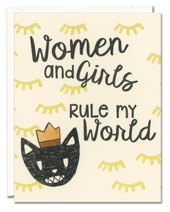 Women and Girls Rule My World card