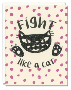 Fight Like a Cat Card