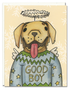 Golden Retriever Ugly Sweater card