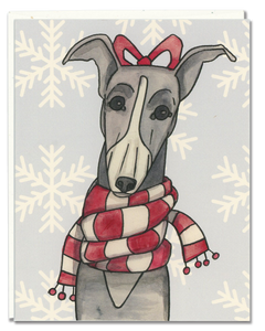 Greyhound Scarf card