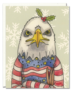 Bald Eagle Ugly Sweater card