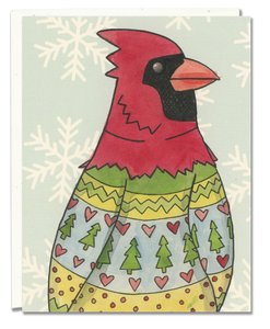 Cardinal Ugly Sweater card