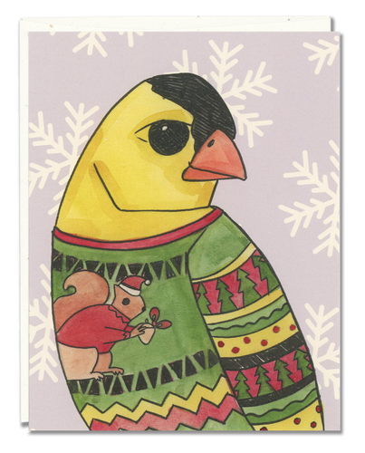 American Goldfinch Ugly Sweater card