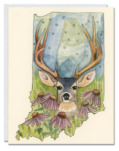 Indiana Deer card
