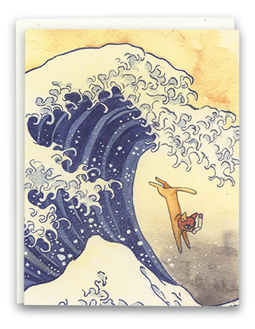 The Great Wave card