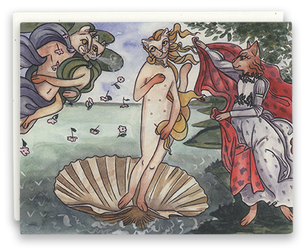 Birth of Venus card