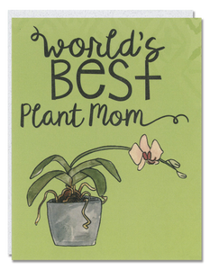 World's Best Plant Mom card