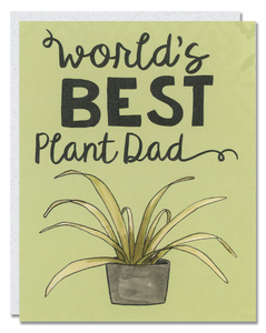 World's Best Plant Dad card