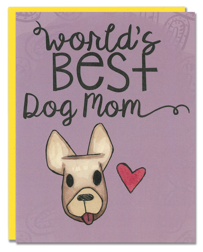 World's Best Dog Mom card