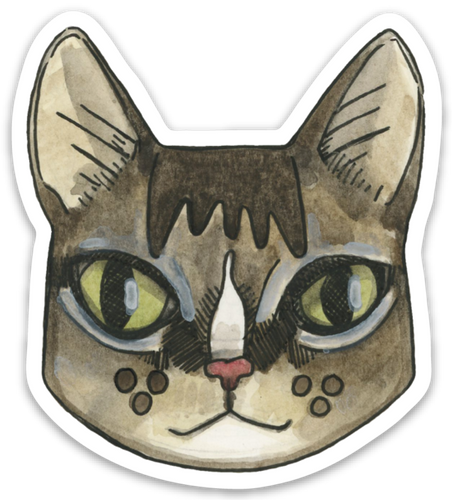 Tabby Cat Sticker
