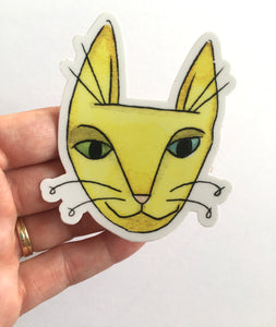 Yellow Cat Sticker