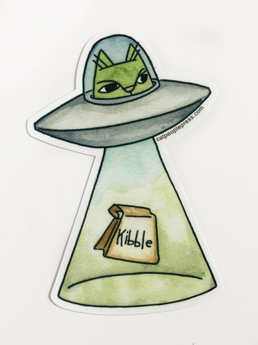 Space Alien Cat Sticker 5