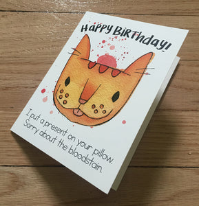 Happy Birthday! Bloodstain card