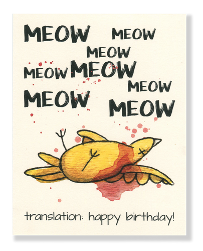 Happy Birthday! Meow card