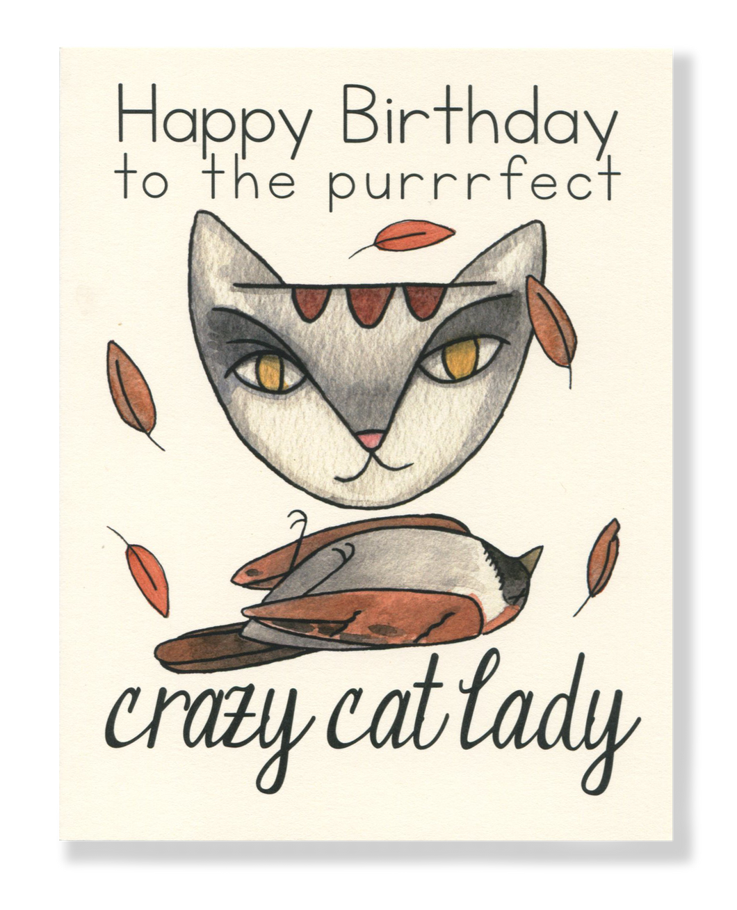 Happy Birthday! Crazy Cat Lady card