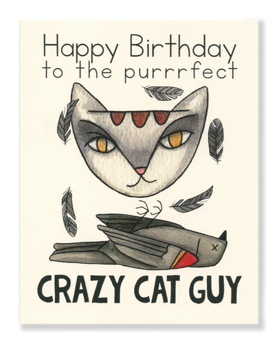Happy Birthday! Crazy Cat Guy card