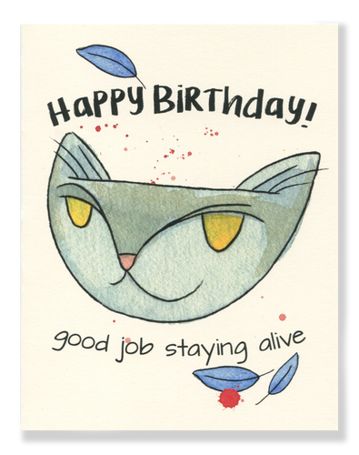 Happy Birthday! Staying Alive card