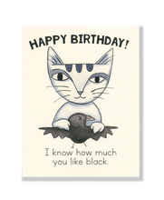 Happy Birthday! Raven card