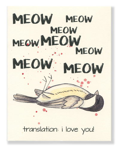 I Love You! Meow card