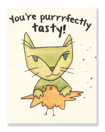 You're purrfectly tasty! card