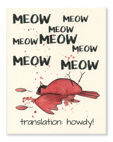 Howdy! Meow card