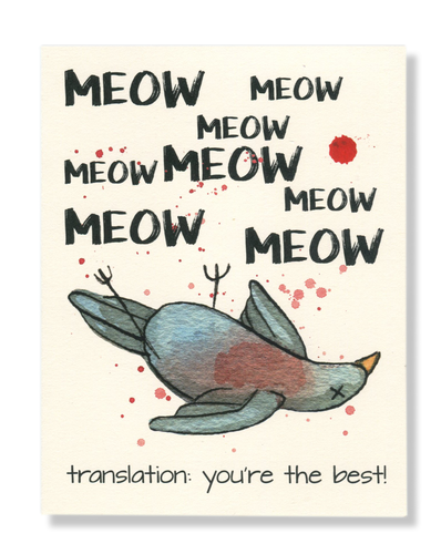 You're the Best! Meow card