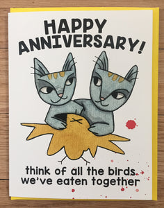 Happy Anniversary! Birds card