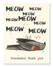 Thank You! Meow card