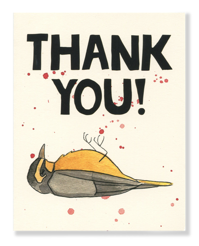 Thank You! Warbler card