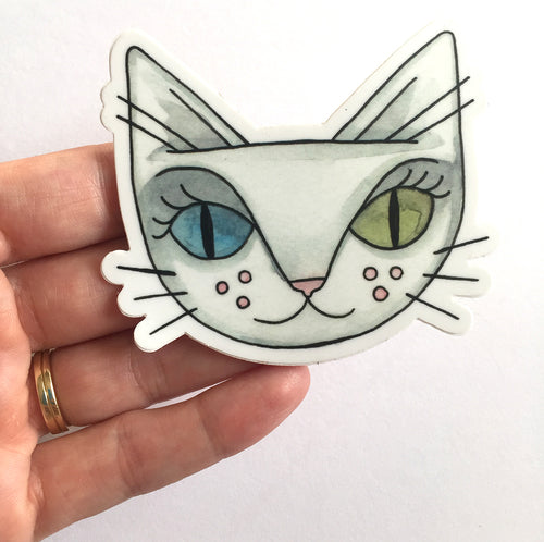 David Bowie Cat Sticker