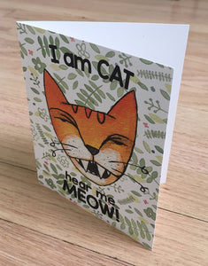Jungle Cat I Am Cat card