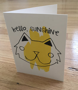 Hello, Sunshine card