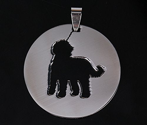 2x Stainless Steel Goldendoodle Labradoodle Chocodoodle Pet Dog Tag Breed Collar Charm Pendant Necklace