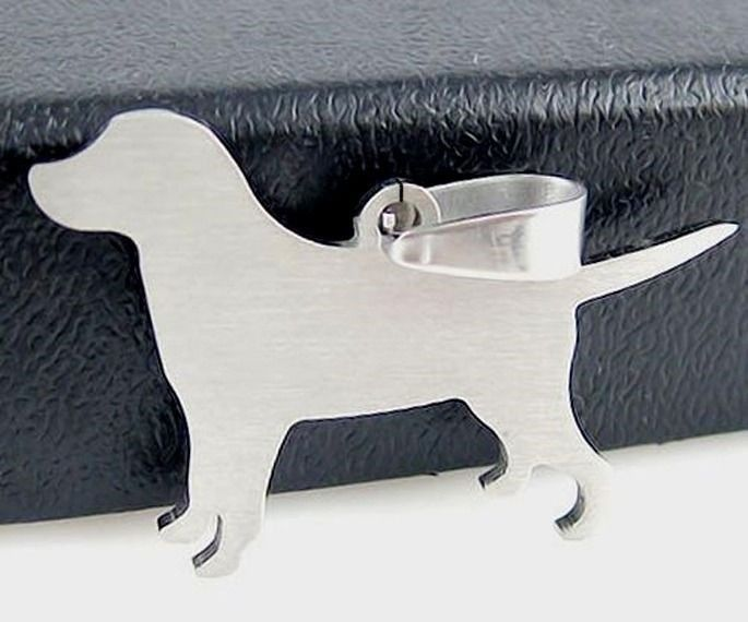 Stainless Steel Labrador Lab Pet Dog Tag Charm Pendant Necklace Jewelry Findings