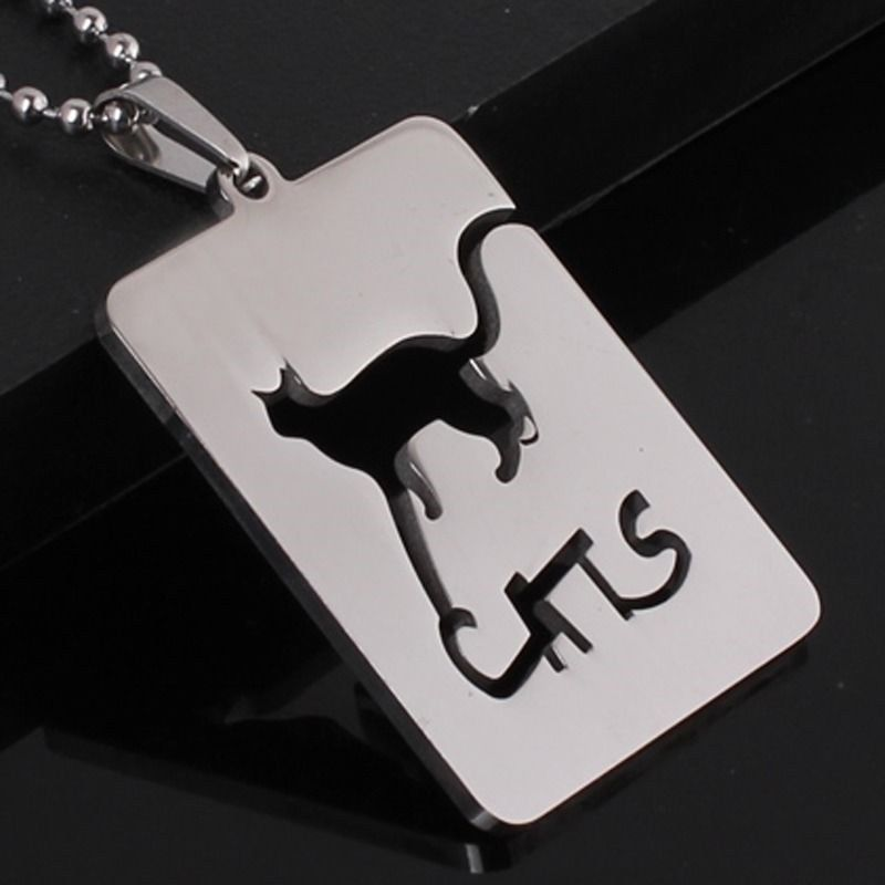 Stainless Steel Pet Cats Abyssinian Persian Bengal Kitten ID Tag Charm Pendant