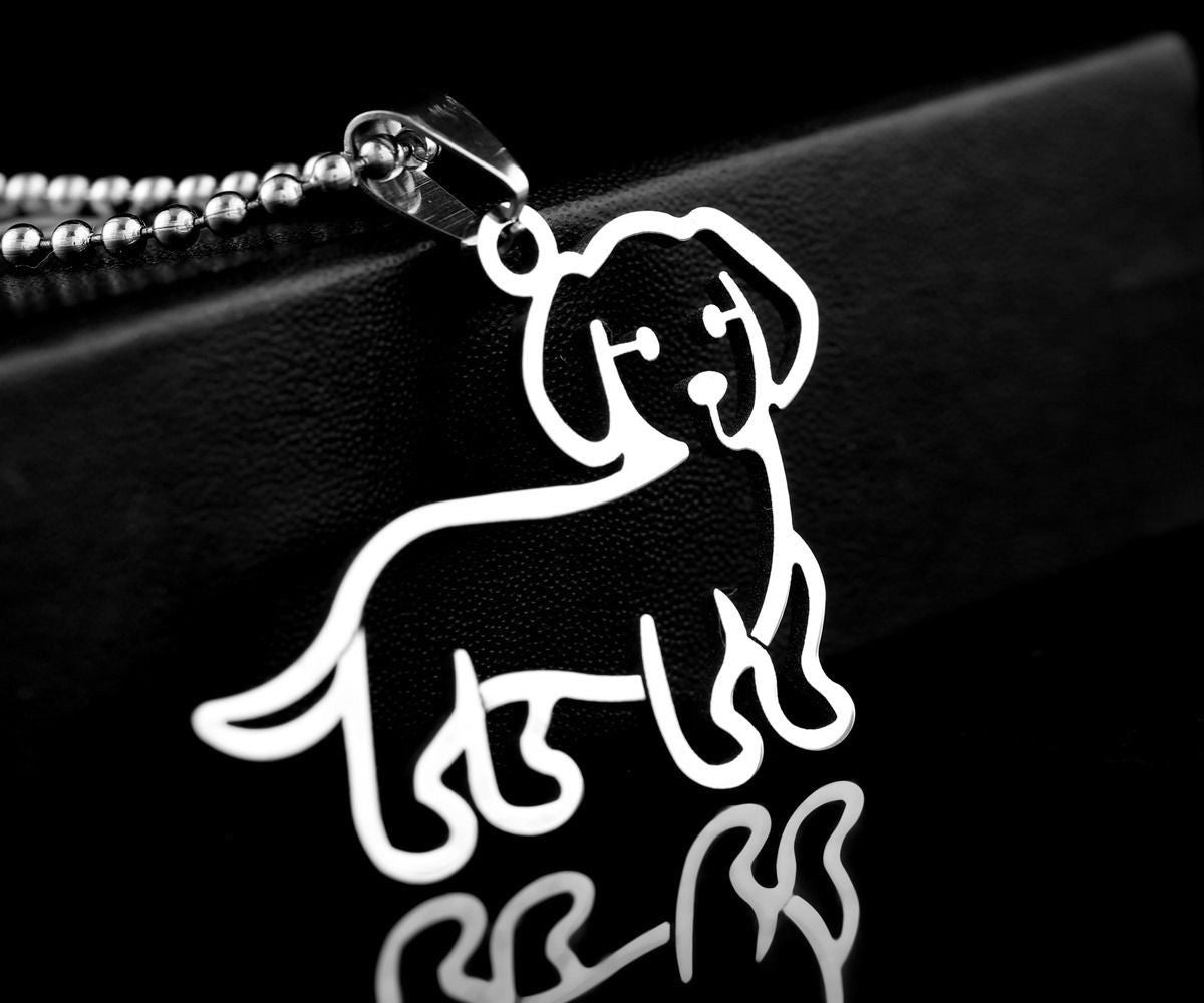 Stainless Steel Dachshund Doxie Wiener Weenie Pet Dog Tag Collar Charm Pendant